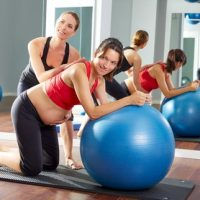 pregnant woman pilates